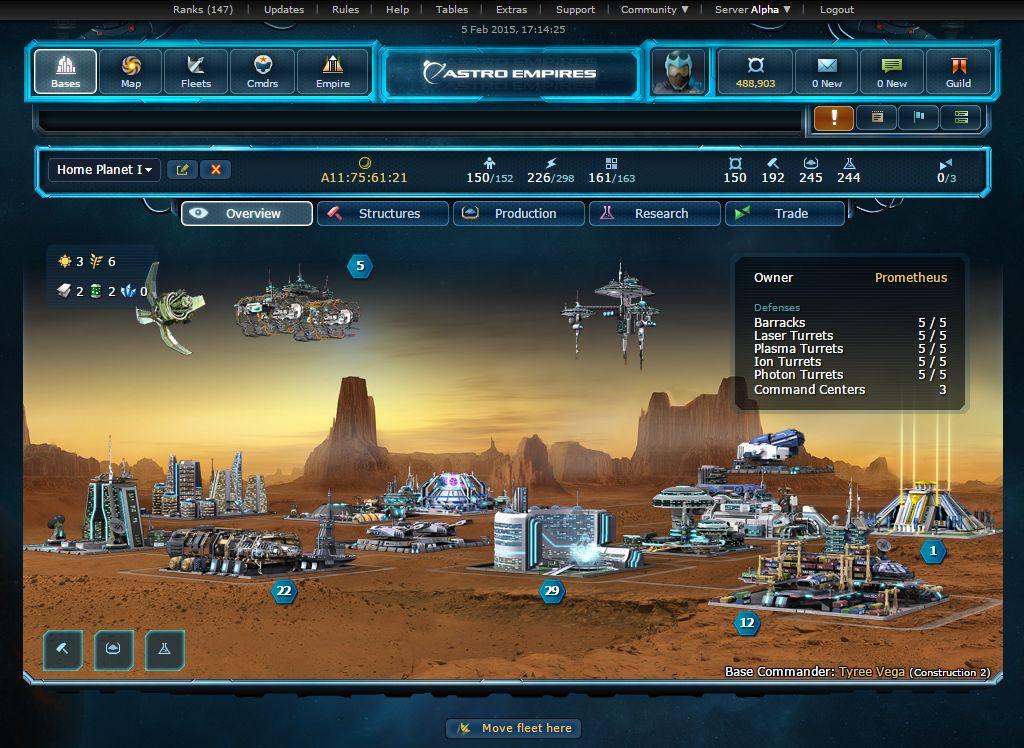 Astro Empires Build Order