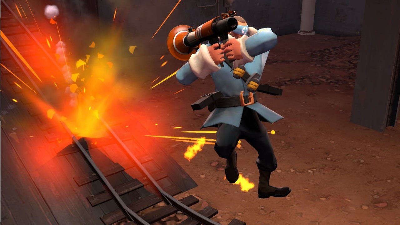 How to rocket jump in tf2 Team Fortress 2