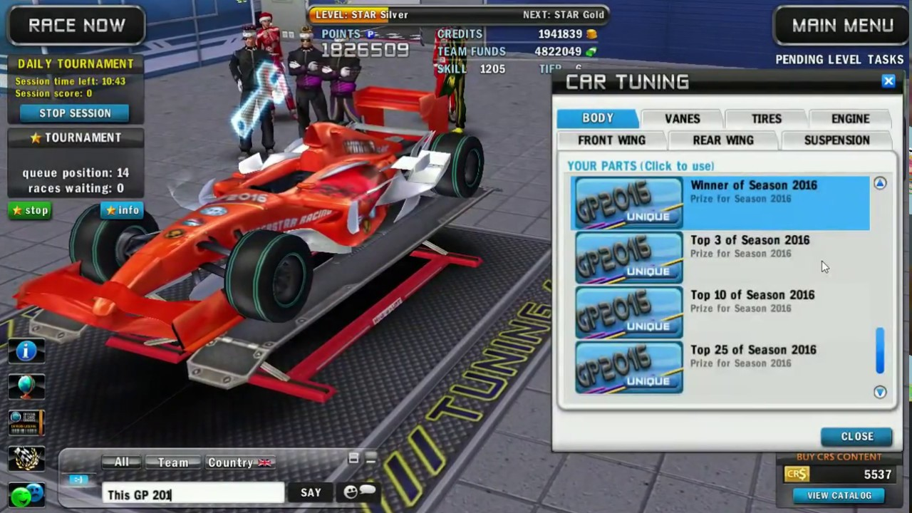 Superstar Racing: What led the game to it'
